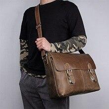 MAHEU leather messenger bag for men real cowskin crossbody