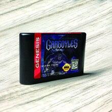 ガーゴイル usaラベルflashkit md無電解ゴールドpcbカードセガジェネシスメガビデオゲームコンソール