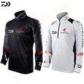 DAIWA черно-белая одежда для рыбалки для мужчин плюс размер 5XL летняя дышащая сухая Солнцезащитная Спортивная одежда для рыбалки на открытом в...