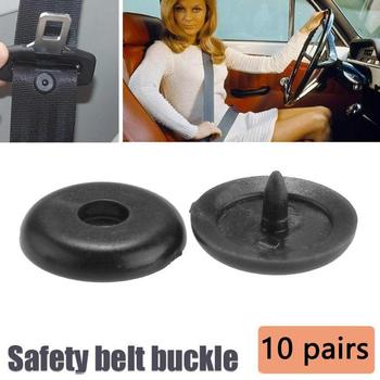 10Pcs/set Car Safety Belt Limit Buckle Universal Plastic Antiskid Stopper Buckle Spacing Safety Buckle Limit Car Belt Clip image