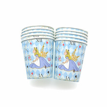 Alice in Wonderland Theme Birthday Party Set Decorations Paper Cup Banner plate Kids Girl Children Day Supplies