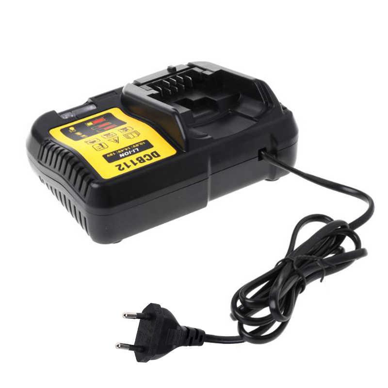 Beste Dcb112 Li-Ion Batterij Oplader Voor Dewalt 10.8V 12V 14.4V 18V Dcb101 Dcb200 Dcb140 Dcb105 Dcb200 eu Plug Zwart