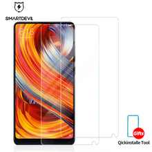 SmartDevil 2.5D cuverd 9H tempered glass for xiaomi Mix2 mobile phone protective film glossy screen protector cover toughened