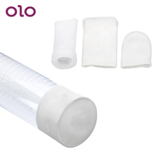 OLO Ultra-soft Silicone Sleeve Penis Sleeve for All Kinds Of Penis Enlargement Extender Stretcher Pump Adult Sex Toys for Man