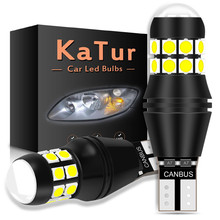 2pcs 2000LM W16W T15 T16 LED 921 For Kia Rio K2 K3 3 4 2017 2018 2019 Sportage Car Back Up Light Bulbs 6000K White Reverse Lamp