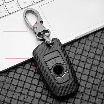 Black Car Key Case Cover Ring Protection For BMW F15 F16 f30 F34 f10 F07 F20 F15 F16 F18 F48 F39 520 G11 X1 X3 X4 X5 X6 M3 M4 M5 car key case cover for bmw 520 525 f30 f10 f18 118i 320i 1 3 5 7 series x3 x4 m3 m4 m5 car styling alloy protection key shell