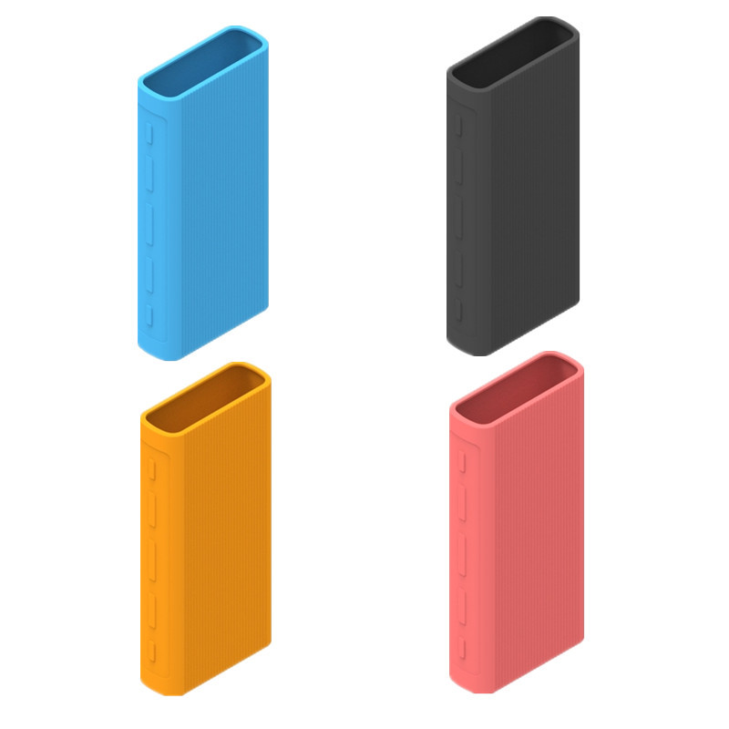 Powerbank Case Silicone Protector Case Cover for Xiaomi Power Bank 2/3 10000 MAh