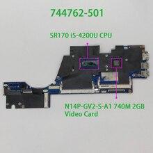 744762 501 VGU00 LA 9314P I5 4200U 740 M/2G สำหรับ HP ENVY TS 14 k130TX แล็ปท็อปโน้ตบุ๊คเมนบอร์ด Mainboard ทดสอบ