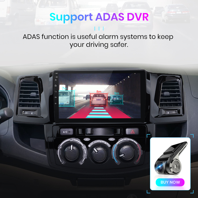Junsun V1 pro 2G+128G Android 10 For Toyota Fortuner Hilux AN50 AN60 Revo Vigo 2008 - 2014 Car Radio Multimedia Video Player dvd