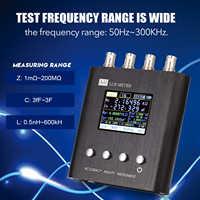 KKMOON 50Hz ~ 300KHz portátil LCR Puente Digital medidor LCR resistencia capacitancia medición herramienta probador
