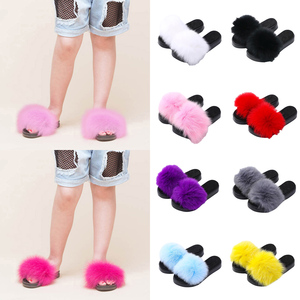 Kids Large Fluffy Slippers Bab