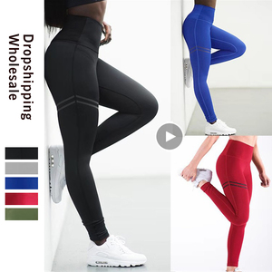 Image 1 - Leggings femininos poliéster, leggings slim para treino, cintura v, calças tipo lápis