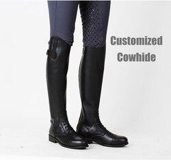 Bottes en cuir de personnalisation à grande échelle et équipement d'équitation pour chevaux, bottes hautes pour hommes, bottes d'équitation