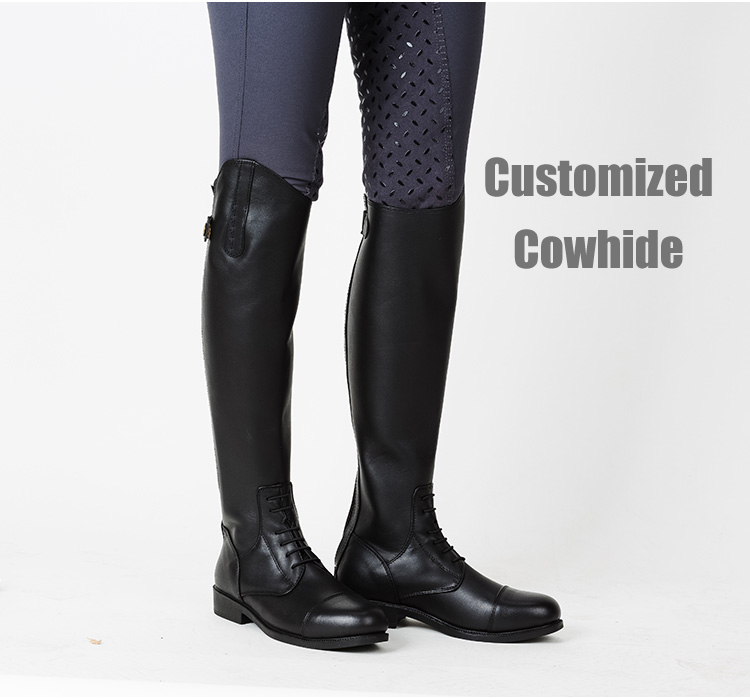 Large-scale Customization Leather Boots And Equestrian Steeplechase Horse Riding Equipment Men's High Boots, Riding Boots