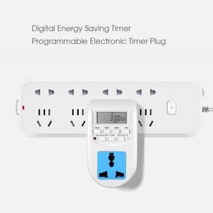 Image 3 - KEBIDU cyfrowa energia ue oszczędzanie energii Timer programowalne elektroniczne gniazdo czasowe Timer sprzęt agd do urządzeń domowych