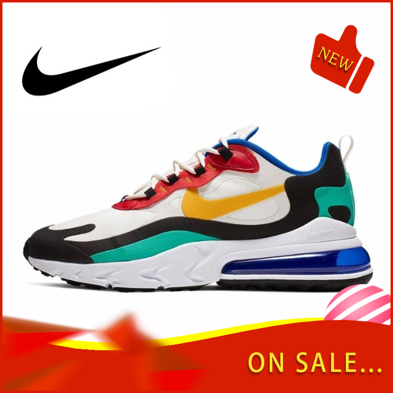 Original Authentic Nike Air Max 270 React Men's Running Shoes Fashion Outdoor Color Sports Shoes Breathable 2019 New AO4971-002