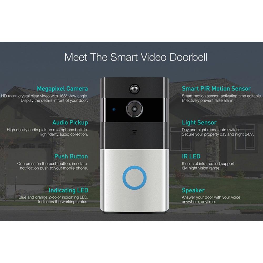 Tuya Smart Video Doorbell 1080P WiFi Video Intercom SmartLife APP Remote  Control Wireless Door Bell Camera Home Security Monitor (Big Offer Black