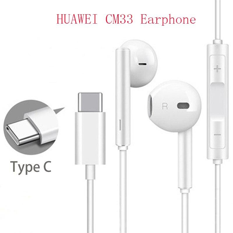 Наушники HUAWEI CM33, наушники-вкладыши с микрофоном, USB Type-C, для HUAWEI Mate 10, 20 Pro, 20 X, RS, P 10, 20, 30, Note 10