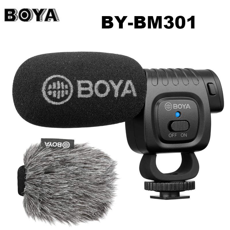 BOYA BY-BM3011 On Camera Cardioid Condenser Microphone Audio Video Mic For Canon Nikon DSLR PC Smartphone Live Streaming Vlog