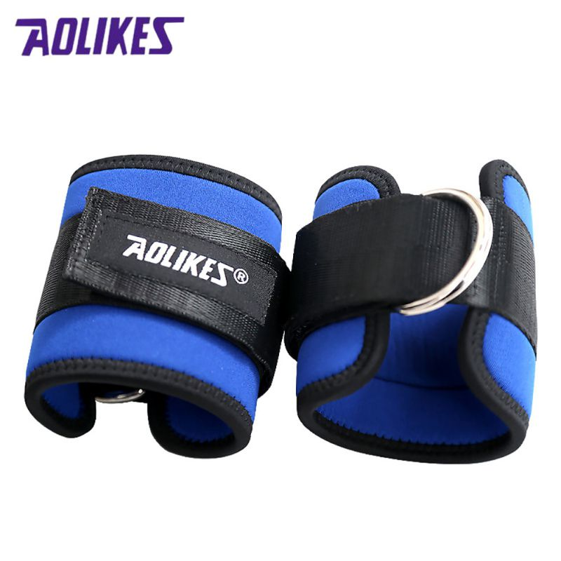 Adjustable Fitness D-Ring Ankle Straps Foot Support Ankle Protector Gym Leg Pullery with Buckle Sports Feet Guard