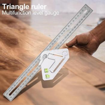 Multi-function Angle Ruler Triangle Woodworking Engineers Square Ruler Combination Set Ruler Right Angle Try Square C8X2