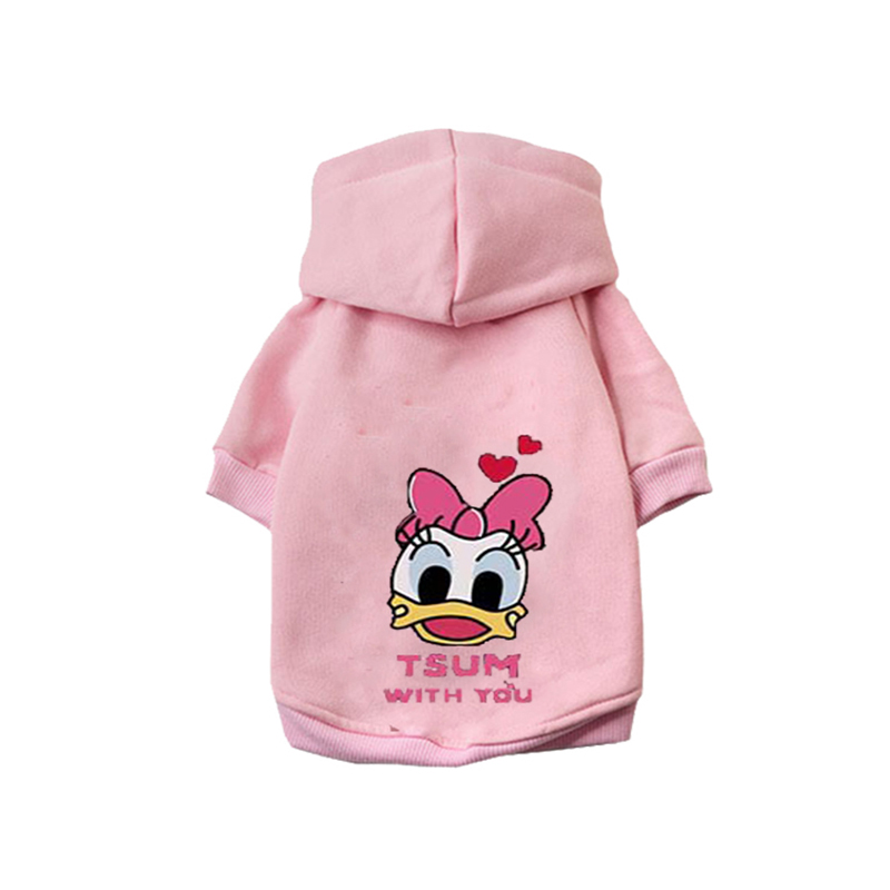 Cartoon Printed Dog Jacket with Hoodie for Winter