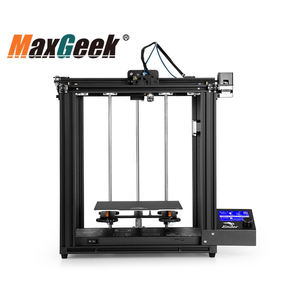 MAxgeek Ender-5 Pro 3D Printer Printing Size 220*220*300mm W/ Mute Motherboard 45° Display Screen Unfinished