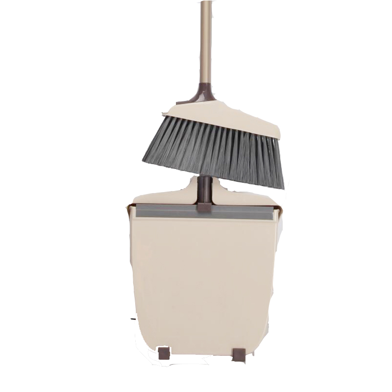 Yocada Standable Storage  Broom and Dustpan with Anti-Skid Device Adjustable Handle for Kitchen Home Lobby Office House Cleaning