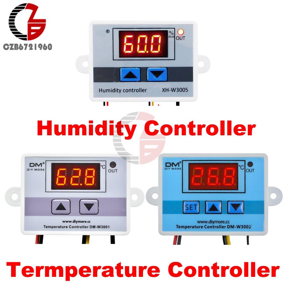 12V 24V 110V 220V LED Digital Temperature Humidity Controller Thermostat Humidistat Aquarium Incubator Thermal Control AC 127V