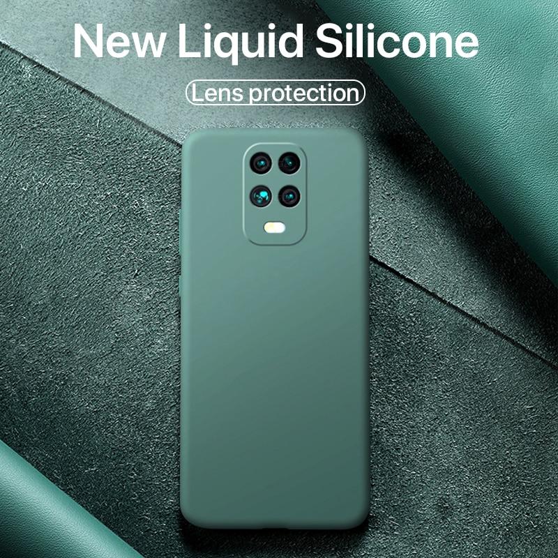 New Original Liquid Silicone soft Case on For Xiaomi mi 10 mi10 mi 9t mi9t pro Redmi Note 9s 9 Pro Max k20 k30 poco f2 pro cover(China)