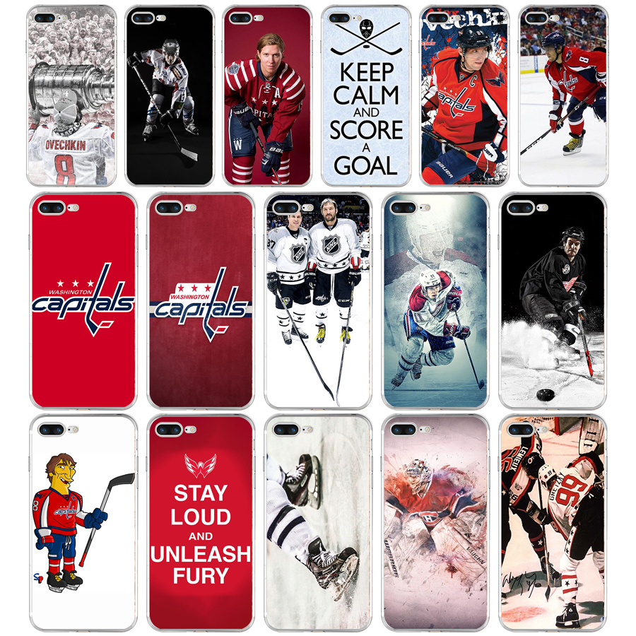 182FG Ice Hockey Alexander Ovechkin Sidney Crosby Soft TPU Silicone Cover Case For Apple iPhone5 5s se 6 6s 7 8 plus x xr xs max(China)