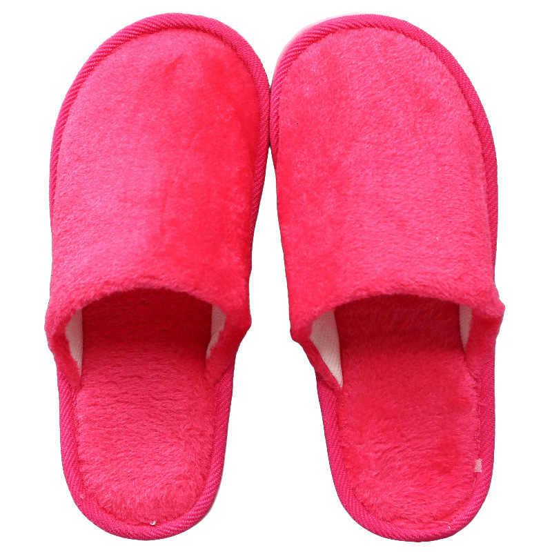 ตุ๊กตาผ้าฝ้ายฤดูหนาวรองเท้าแตะภายในบ้านไม้ลื่นอุ่น EVA รองเท้าผู้หญิงผู้ชายห้องนอนรองเท้านุ่มรองเท้าแตะ