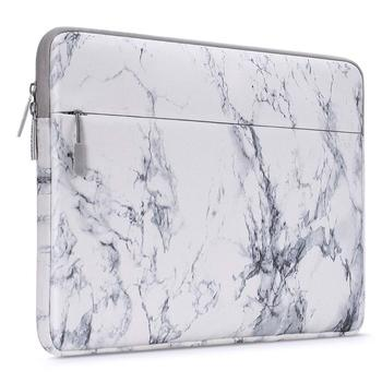 White Marble Laptop Sleeve 1