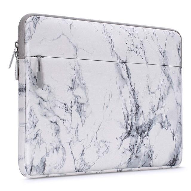 White Marble Laptop Sleeve 1