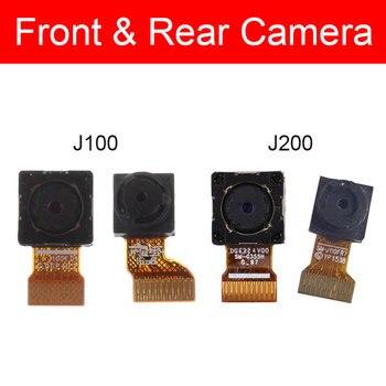 Cámara frontal y trasera para Samsung Galaxy J1 J100 J2 J200 pequeña cámara frontal grande Cable flexible piezas de repuesto