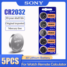Lithium-Battery DL2032 Calculator Coin-Cell Watch Car-Remote-Control-Button 3V 5PCS SONY