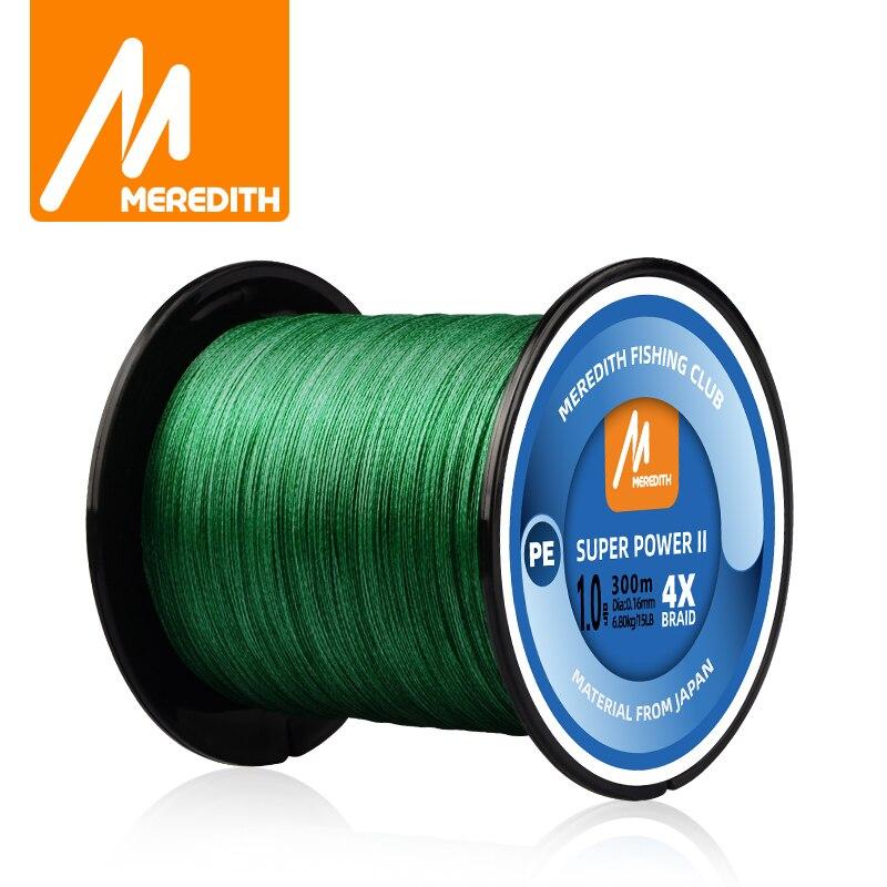 MEREDITH 1000M 15-80LB Multifilament pürüzsüz olta 4 tel örgülü PE olta sazan balıkçılık için tuzlu su tatlısu