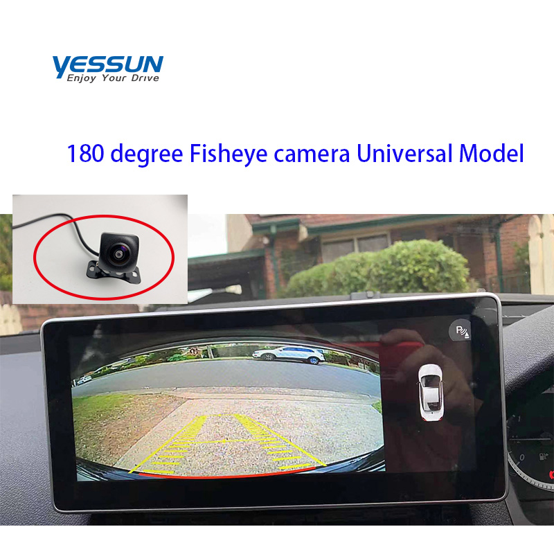 Yessun Car Rear View Camera 4 LED Night Vision Reversing Auto Parking Monitor CCD Waterproof 170  180 Degree HD Video