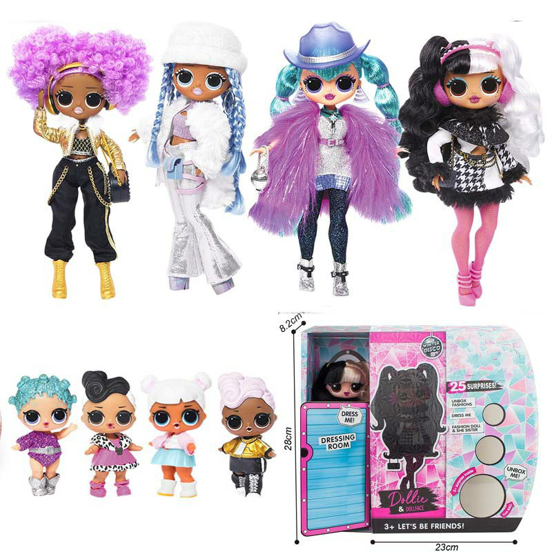 4 Styles Winter Disco Big Lol Surprise Doll Sister Models Doll Blind Box 11 Inch Doll Toys For Children Diy Kids Toys For Girls