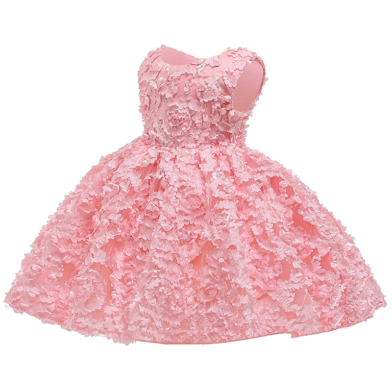 New Year Petal Toddler Baby Girl Infant Princess Tutu Lace Dress Girl Wedding Dress Kids Party Vestidos for Baby 1 Y birthday