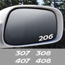 4 Stuks Voor Peugeot 307 206 207 208 308 407 406 408 508 301 607 107 3008 2008 4008 5008 auto Achteruitkijkspiegel Stickers Accessoires