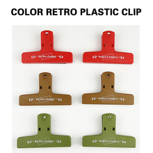 Color Retro Plastic Clip Hand Account Storage Room Clean And Tidy 6 Models Of