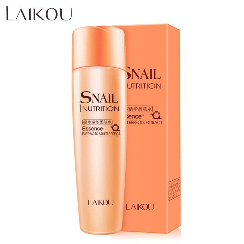 Snail Toner 1pcs/lot LAIKOU Facial Skin Care Face Toner Emulsion Snail Toner Whitening Moist Anti Wrinkle Beauty Cosmetic