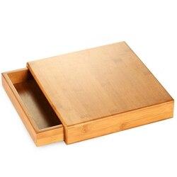 ABUI naturalny bambus Pu'Er pojemnik na herbatę z drewna taca herbaciana zestaw kung fu akcesoria do herbaty herbaty opakowanie na herbatę pudełko typ szuflady pojedyncza warstwa T w Puszki na herbatę od Dom i ogród na