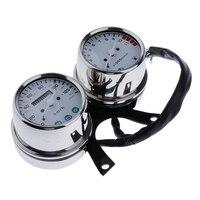 Velocímetro duplo-velocímetro e instrumento do motor para motocicletas