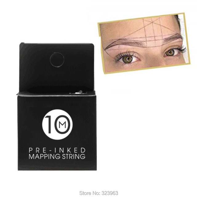 10M Black Eyebrow Microblading Mapping String for Ruler Permanent Makeup Supplies Mapping Thread Pre-inked 1