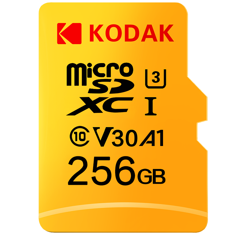 Kodak 256GB Micro SD card High Speed class 10 U3 4K cartao de memoria Flash Memory Card 256GB tarjeta micro sd|Micro SD Cards| |  - title=