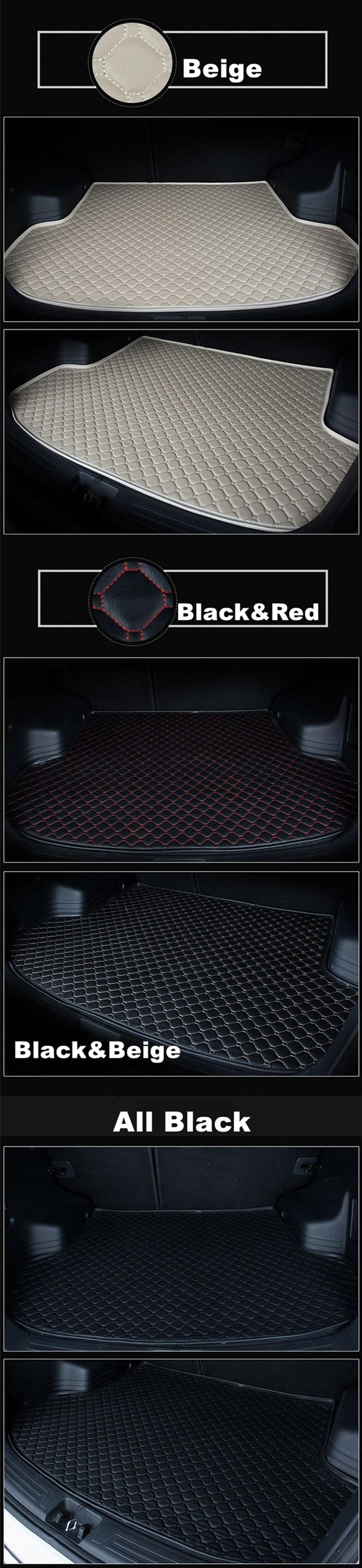 Custom Fit Trunk Floor Mat For Toyota Prius 2016-17 Anti Skid Cargo Liner Black