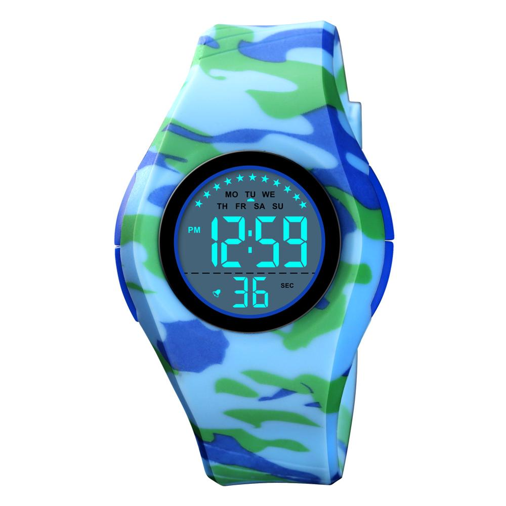 SKMEI Children Watch Boys Girls LED Digital Sports Watches Stop Watch Luminous 5Bar Waterproof Kids Wristwatches Gift For Kid