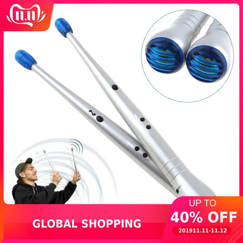 Percussion Instruments Electronic Drumsticks Create Drum Sticks Crash & Snare Sounds With Sensitive Tip Speaker
